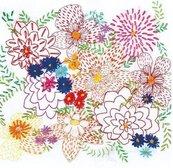 Karnet kwadrat z kopertą Bright Bouquet