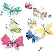 Karnet kwadrat z kopertą Fluttering Butterflies