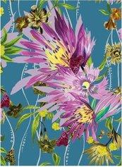 Karnet B6 z kopertą Jungle Bloom