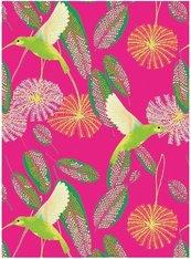 Karnet B6 z kopertą Hummingbirds