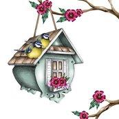 Karnet Swarovski kwadrat CL0327 Karmink dla ptaków
