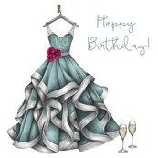 Karnet Swarovski kwadrat CL0301 Urodziny sukienka