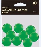 Magnes 30mm zielony 10szt GRAND