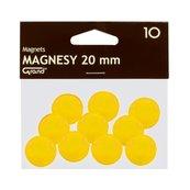 Magnes 20mm żółty 10szt GRAND