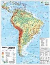 Ameryka PD 1:16 500 000 mapa pol. i fiz. ścienna