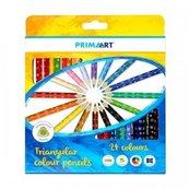 Kredki ołówkowe trójkątne 24 kolory PRIMA ART