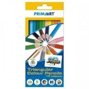 Kredki ołówkowe trójkątne 12 kolorów PRIMA ART