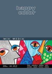 Blok Mix Media ART A4/25K 200g HAPPY COLOR