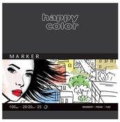 Blok do markerów ART 20x20 cm 25K 100g Happy Color