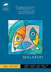 Blok malarski A4/10K 200g Happy Color