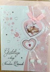 Karnet narodziny B6 Premium 50 + koperta