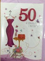 Karnet urodziny B6 Premium 67 + koperta
