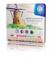 Kredki ołówkowe prestige 24 kolorów ASTRA