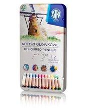 Kredki ołówkowe prestige 12 kolorów ASTRA