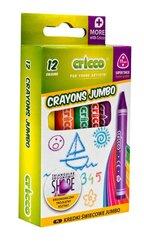 Kredki świecowe Jumbo 12 kolorów CRICCO