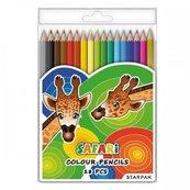 Kredki ołówkowe 18 kolorów Safari