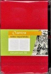 Notes Reporterski A6Linia Romantyzm Czerwony ANTRA