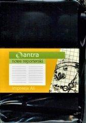 Notes Reporterski A6 Linia Impresja Czarny ANTRA