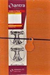 Notes A5 Linia Renesans Pomarańczowy ANTRA