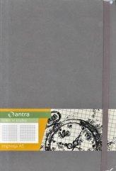 Notes A5 Kratka Impresja Szary ANTRA