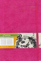 Notes A5 Kratka Impresja Różowy ANTRA