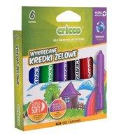 Kredki żelowo-pastelowe 3w1 6 kolorów CRICCO