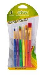 Pędzelki szkolne kolorowe 6szt CRICCO