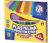Plastelina 12 kolorów prostokątna ASTRA