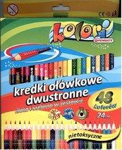 Kredki Premium Kolori dwustronne 48 kolor. PENMATE