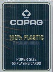 Karty do gry Copag 100% plastic Regular index niebieskie