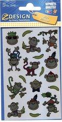 Naklejki foliowe metaliczne - małpki