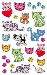 Naklejki foliowe metaliczne - kotki