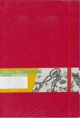 Notes B5 Linia Impresja Czerwony ANTRA