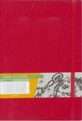 Notes B5 Kratka Impresja Czerwony ANTRA