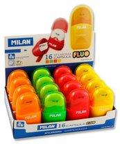 Temperówko-Gumka Compact Fluo (16szt) MILAN