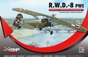 """Samolot Szkolno - Łącznikowy """"R.W.D -8 PWS"""""""