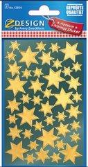 Naklejki - Złote gwiazdy