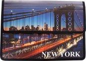 Teczka z klapką na rzepy A4 New York