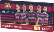 Plastelina szkolna 12 kolorów FC Barcelona ASTRA