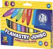 Flamastry Jumbo 12 kolorów ASTRA