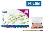 Kredki ołówkowe metalizowane 36 kolorów MILAN