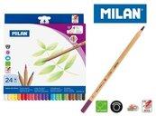 Kredki ołówkowe metalizowane 24 kolory MILAN