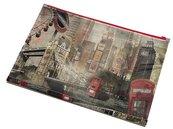 Koperta z nadrukiem zip A4 PP London