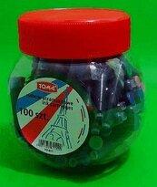 Naboje do piór mix kolorów 100szt TOMA