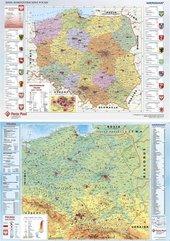 Podkład dwustronny z mapą Polski
