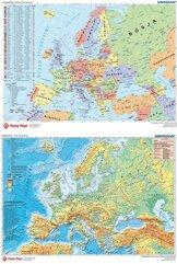 Podkład dwustronny z mapą Europy