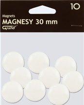 Magnes 30mm biały 10szt GRAND