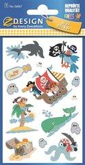 Naklejki brokatowe - Piraci