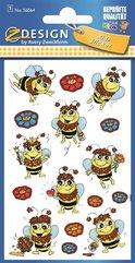 Naklejki brokatowe - Pszczółki