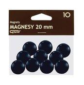 Magnes 20mm czarny 10szt GRAND